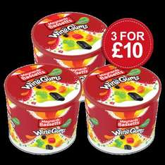 MAYNARDS BASSETTS WINE GUMS 800G TUB 3 FOR £10 + £3.95 @ Cadburys Gifts Direct