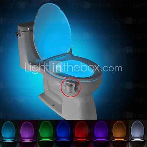 Motion Activated Toilet Nightlight, LED Toilet Light £5.16 @ lightinthebox.com