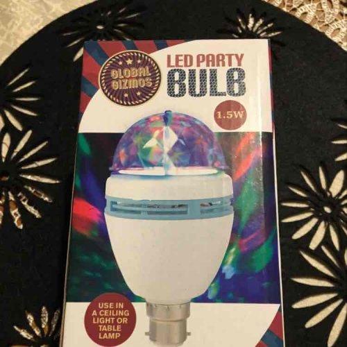 LED party bulb £2.99 at Range