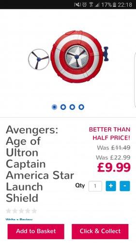 Captain America age of ultron sheild - £9.99 @ Toys R Us (Free C&C)