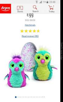Hatchimal Teal only available to order for collection at Argos £59.99, has to pay!