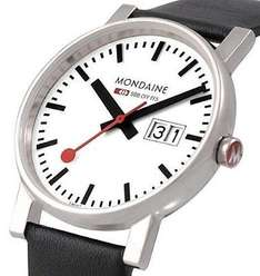 Mondaine Large Men's Swiss Railway Watch with date @ Amazon lightening deal £89.40 (50% off)