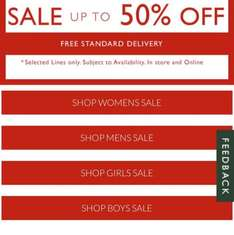 Up To 50% off over at Clarks + Free standard delivery
