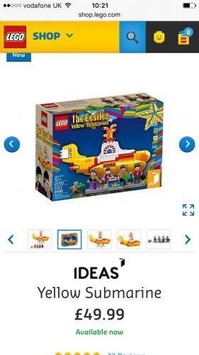 The Beatles Lego Yellow Submarine £49.99 Lego Shop
