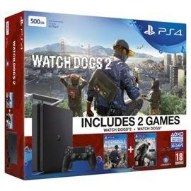 PS4 Slim 500GB Console PLUS Watchdogs 1 & 2 bundle BACK IN SALE! £239.99 Tesco