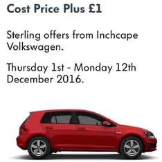 VW Cost Price Plus £1 Offer On Cars at Inchcape Volvo