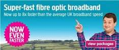 Plusnet Fibre broadband £7.50pcm for 18 months excluding line rental