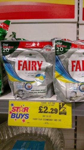 Fairy Platinum 20 pack - £2.29 instore @ Home Bargains
