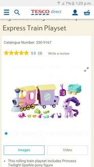 My little pony train playset £8.50 Tesco Direct