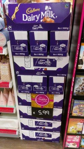 850g Dairy Milk bar - £5.99 instore @ Superdrug