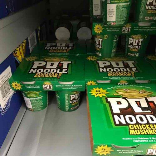 Pot Noodles 4 for £2 at Asda