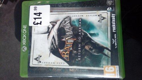 Batman Return to Arkham Xbox One £14.99 @ HMV - Brighton