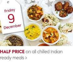 Waitrose: Daily half price/special offers 9th-19th Dec (9th Half price Indian food!!)
