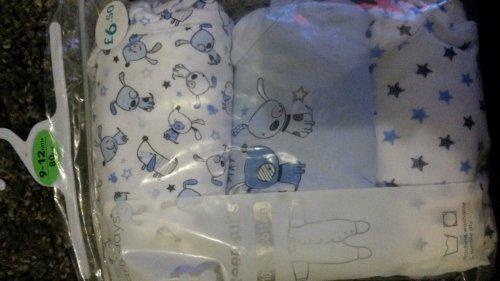 3pack 100%cotton sleepsuits £6.50 primark
