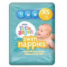 reduced Asda Little Angels swim nappies (medium) £1 for 10, also Xmas nappies (Instore @ Newmarket)