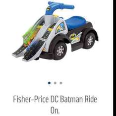 fisher price dc batman ride on reduced from £49.99 to £18.99