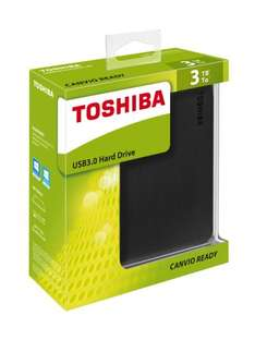 Toshiba Canvio Ready USB 3.0 Portable Hard Drive - 3TB - £74.99 @ Argos eBay Outlet
