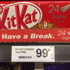 24 pack KitKat Fingers 99p at Farmfoods