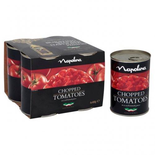 Morrisons: Napolina Chopped Tomatoes (4x400g) 4 x 280g £2.00