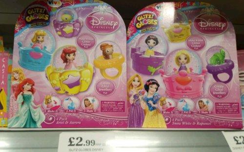 Disney Princess Glitzi Globes 2 pack £2.99 in Home Bargains