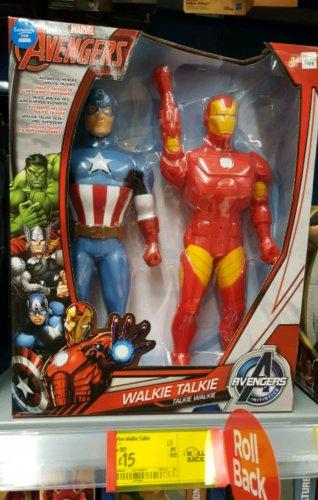 Avengers Walkie Talkies reduced to £15 in Asda instore