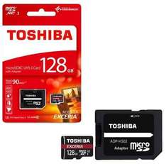 Toshiba Exceria Micro SD SDXC Memory Card UHS-1 90MB/s with Full Size SD Card Adapter - 128GB - £24.99 inc shipping at 7dayshop