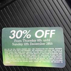 Nike instore only friends and family 30% off
