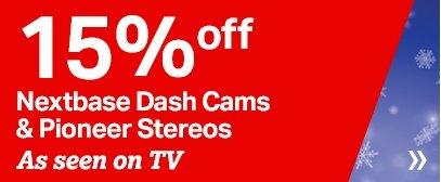 Halfords - 15% off Nextbase Dash Cams