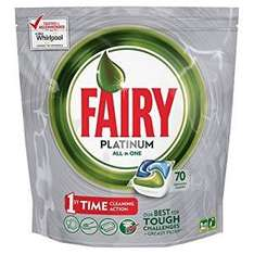Fairy Platinum all in one 70 tablets @ Amazon for £6.20 (subscribe and save) with voucher