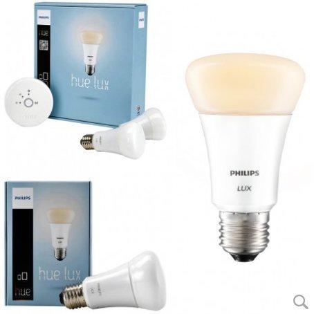 Philips hue Lux Starter Kit White (2x White 9W ES bulbs and 1st gen bridge) - £32.95 w free shipping - LuzernTech