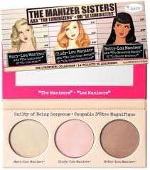 reduced and 3 for 2 theBalm Manizer Sisters Luminizer Trio £12.40 feelunique