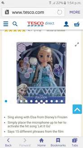 Elsa singing doll £17 Tesco - Free c&c