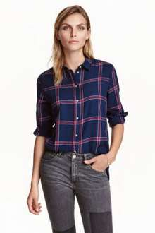 H&M Ladies Gift of the Day 50% off Flannel Shirt £7.99