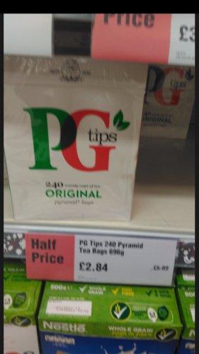 pg tips £2.84 for 240 tea bags @ co op instore