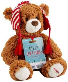 Free Teddy Bear when you buy a £75 or £200 pounds Amazon Gift card with Prime