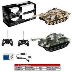 8 FUNCTION TWIN RECHARGEABLE INFRARED FIGHTING BATTLE TANK RC BOYS 2 PLAYER UK - £27.98 @ hotterdeal4u via eBay