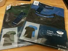 2 pack men's t-shirts 99p reduced in Aldi