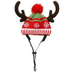 Pets Reindeer Antler Woolly HatOnly £1.49 @ B and M