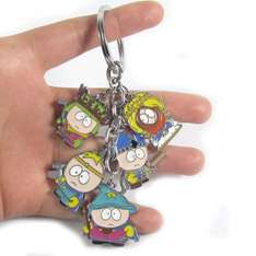 Cartman, Stan, Kyle, Kenny, Butters Metal Keychains - £2.82 @ Sold by Animation Fan Store at Aliexpress