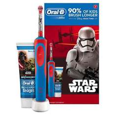 Oral-B Stages Power Kids Electric Toothbrush Featuring Star Wars Characters, Gift Pack Including Toothpaste - £10 at Morrison in store