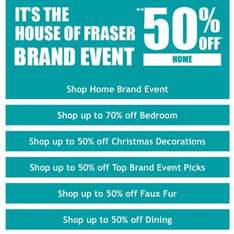 House Of Fraser Brand Event Up To 70% off Bedroom Items