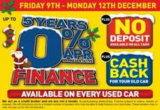 On All Used cars for 4days only, 0% Deposit, 0% APR