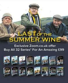 Last of The Summer Wine (all 32 Series) (Zoom Exclusive Offer) [DVD] £84.15 using code 15DEC2016 @ zoom.co.uk