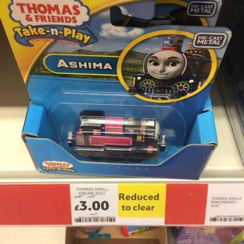 Thomas small take and play engines half price @ tesco instore - £3