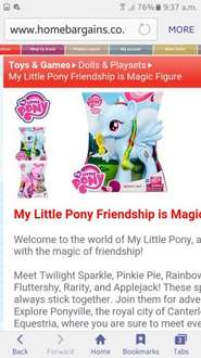My little pony 8inch figure - £7.99 @ Home Bargains