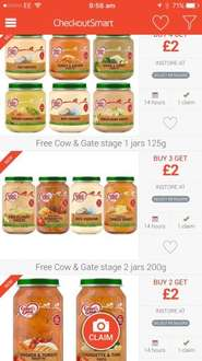 Free baby food with checkoutsmart - £2 from Superdrug