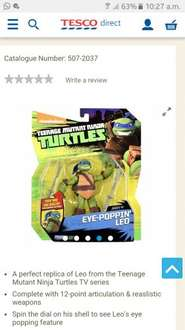 Teenage mutant ninja turtle figure at Tesco Direct for £5