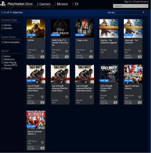 """""""Mega"""" Weekend Deals - At PSN"""