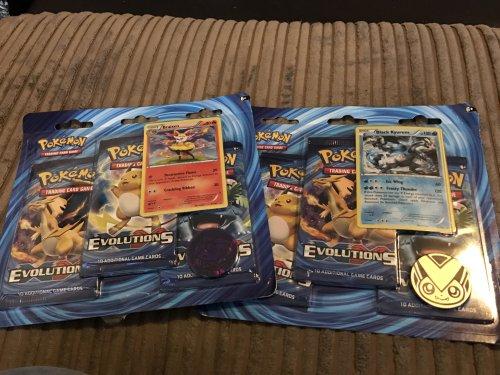 Pokémon evolutions instore at GAME for £10.99 (3 booster packs)