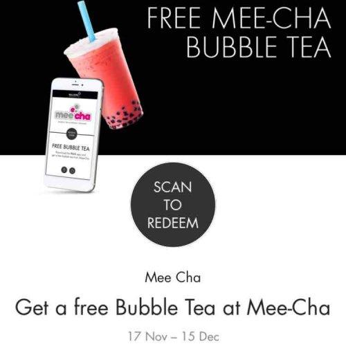 Birmingham - Free Mee-Cha bubble tea via Bullring App till December 15th
